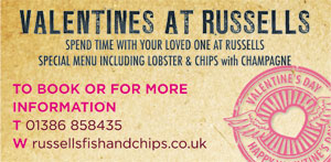 Valentines at Russell's Fish and Chips