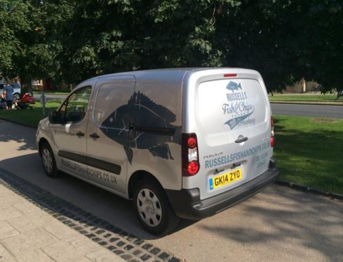 look out for Russells new van and claim a prize