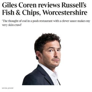 Giles Coren reviews Russells Fish and Chips